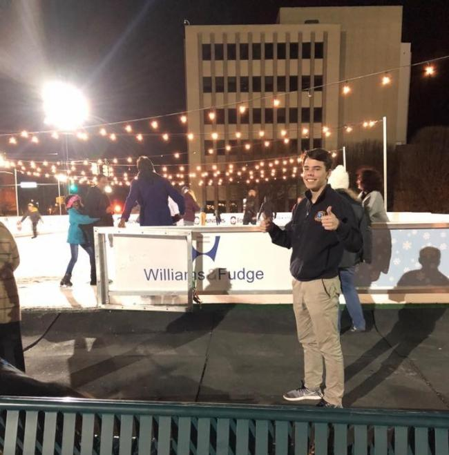 School Spirit Night At Founders Holiday Ice Rink Old Town Rock