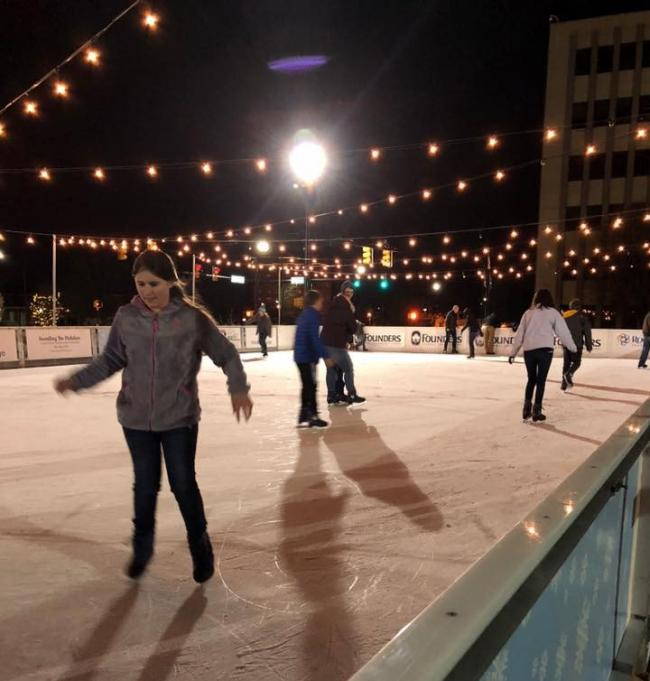 Opening Night Food Truck Friday At Founders Holiday Ice Rink Old